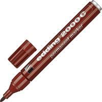 Маркер перманентный Edding 2000C/7 коричневый (толщина линии 1,5-3 мм) круглый наконечник металлический корпус