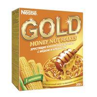 Хлопья Nestle Gold кукурузные с медом и арахисом 300 г