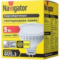 Лампа светодиодная Navigator 5 Вт GU5.3 рефлектор 4000 К нейтральный белый свет