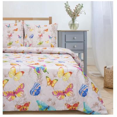 Постельное белье Этель Бабочки (2-спальное, 2 наволочки 70х70 см, поплин 125 г/кв.м)