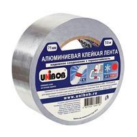 Клейкая лента алюминиевая Unibob 75 мм x 50 м 70 мкм серая