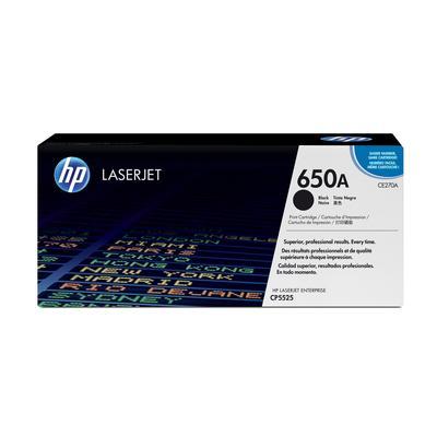 Картридж лазерный HP 650A CE270A черный оригинальный