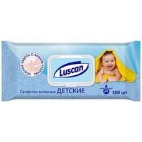 Влажные салфетки детские Luscan 100 штук в упаковке
