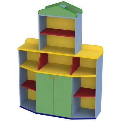 Стенка детская Книжная (разноцветный, 1214х421х1638 мм)
