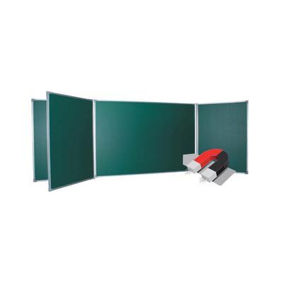 Доска магнитно-меловая  100х340 см зеленая пятисекционная лаковое покрытие BoardSYS