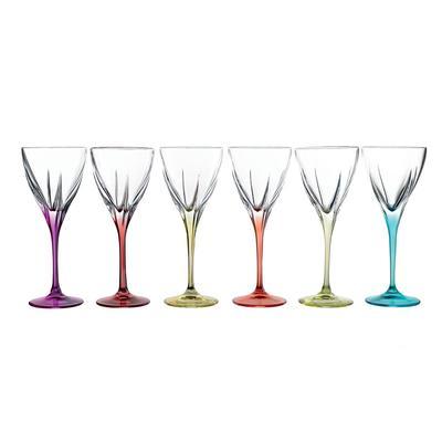 Набор бокалов для красного вина RCR Fusion colour 250 мл (в наборе 6 штук)