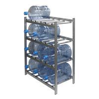 Стеллаж для бутилированной воды Бомис-12 на 12 тар по 19л металлик
