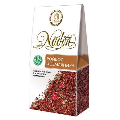 Чай подарочный Nadin Ройбос и земляника листовой травяной 50 г