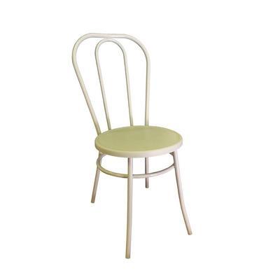 Стул для столовых Венский белый (пластик, металл)