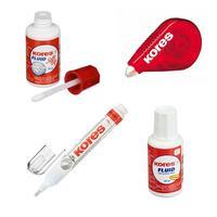 Набор офисный Kores (корректирующая жидкость 2 штуки, лента, корректирующая ручка)