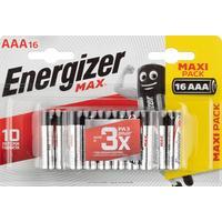 Батарейки Energizer Max мизинчиковые AAA LR03 (16 штук в упаковке)