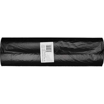 Мешки для мусора на 240 литров черные (50 мкм, в рулоне 50 штук, 90х140 см)
