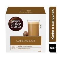 Кофе в капсулах для кофемашин Nescafe Dolce Gusto Cafe au lait (16 штук в упаковке)