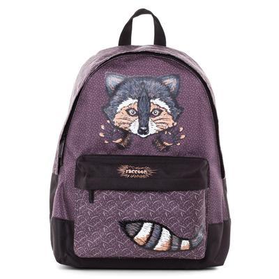 Рюкзак молодежный Hatber Basic Raccoon коричневый