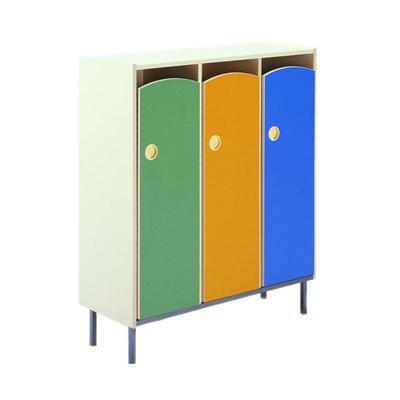 Шкаф для горшков на 15 мест (бежевый/голубой/зеленый/желтый, 889x347x1063 мм)