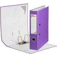 Папка-регистратор Комус Экономи 75 мм фиолетовая
