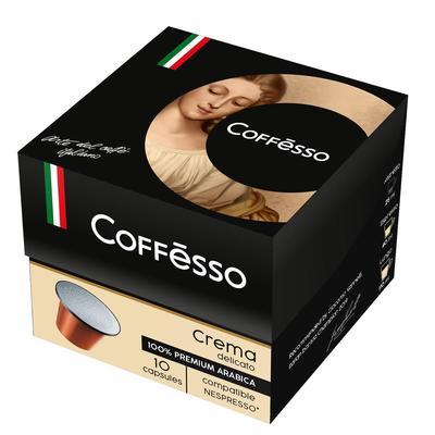 Капсулы для кофемашин Coffesso Crema Delicato 10 штук в упаковке