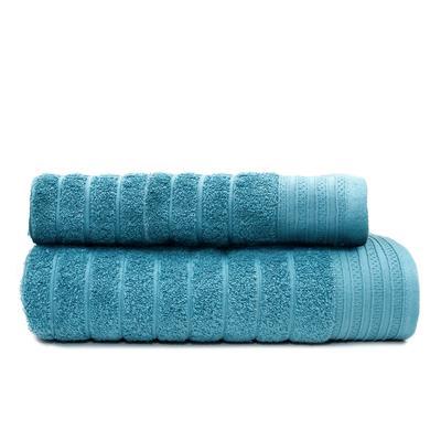 Набор полотенец махровых Страйп 50х90 см 1 штука 70х130 см 1 штука 500 г/кв.м серо-голубые