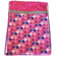 Мешок для обуви №1 School Клетка розовая