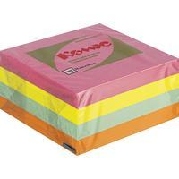 Стикеры Комус 76х76 мм неоновые 4 цвета (1 блок, 400 листов)