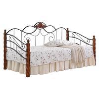 Кровать Canzona (черная/красный дуб, 950х2100х1140 мм)