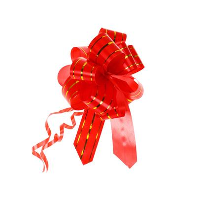 Бант Шар Золотые линии красный 3 см x 12 см (50 штук в упаковке)
