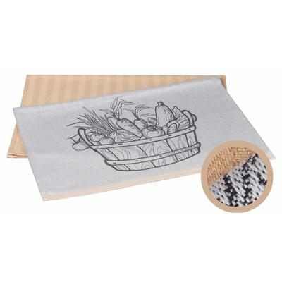 Набор полотенец махровых Vegetables 50x70 см 2 штуки в упаковке