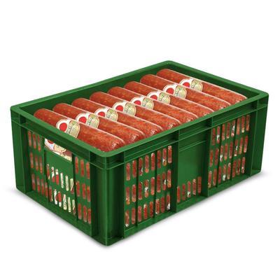 Ящик (лоток) колбасный из ПНД 600х400х250 мм зеленый