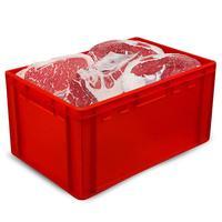 Ящик (лоток) мясной из ПНД 600x400x300 мм красный