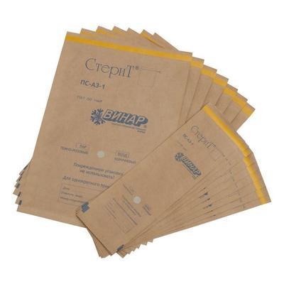 Пакет для стерилизации Винар Стерит для паровой/воздушной/газовой/радиационной стерилизации 180x250 мм (100 штук в упаковке)