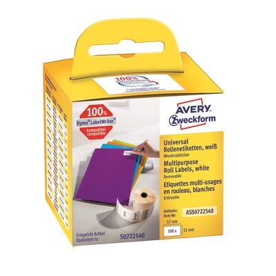Этикетки в рулонах Avery Zweckform ASS0722540 для принтера DYMO (32x57 мм, цвет ленты белый, шрифт черный)