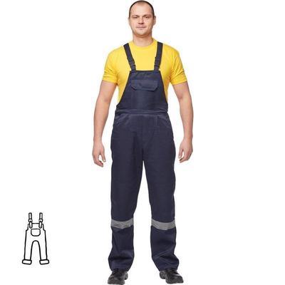 Полукомбинезон рабочий летний мужской л03-ПК с СОП синий (размер 64-66 рост 158-164)