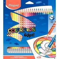 Карандаши цветные Maped Color'peps OOPS 24 цвета трехгранные c ластиком