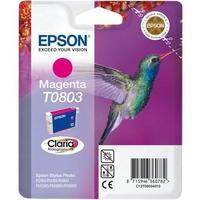 Картридж струйный Epson T0803 C13T08034011 пурпурный оригинальный