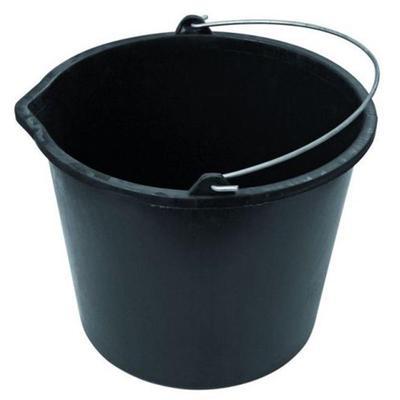 Ведро 16 л пластиковое черное