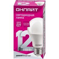Лампа светодиодная ОНЛАЙТ 12 Вт Е 27 грушевидная 6500 К холодный белый свет