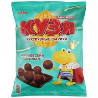 Кукурузные шарики Кузя Лакомкин с шоколадом 100 г