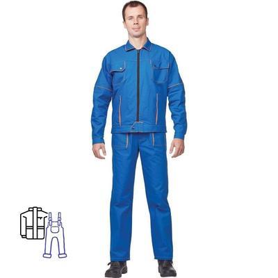 Костюм рабочий летний мужской л06-КПК васильковый (размер 64-66, рост 170-176)