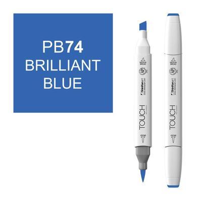 Маркер Touch brush двусторонний синий бриллиантовый