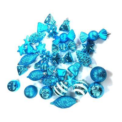 Набор новогодних шаров из пластика (6 см, 35 штук в упаковке)