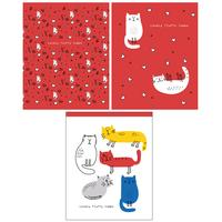 Тетрадь общая Academy Style Кошки схематичные А5 96 листов в клетку на евроспирали (обложка в ассортименте)