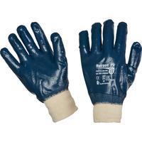 Перчатки рабочие из трикотажного полотна Ампаро Нитрос РП 446565 с полным нитриловым покрытием (манжета резинка, размер 11, XXL)
