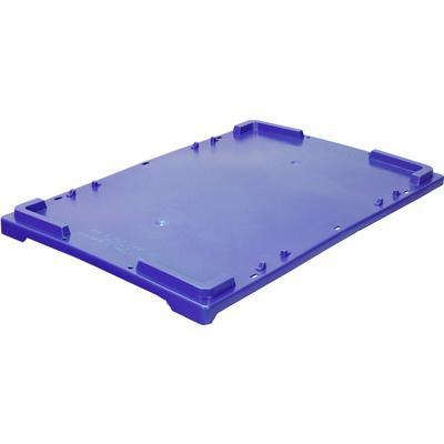 Крышка для универсальных ящиков из пластика 600х400х20 мм морозостойкая  синяя