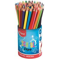 Карандаши цветные Maped Color'peps Strong School Peps 12 цветов  трехгранные в стакане