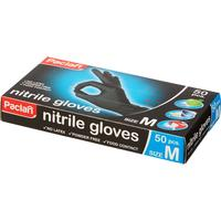 Перчатки одноразовые Paclan нитриловые неопудренные черные (размер M, 50 штук/25 пар в упаковке)