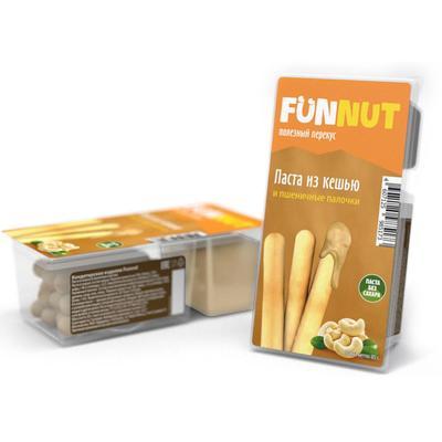 Ореховая паста Funnut из кешью Funnut + пшеничные палочки 85 г