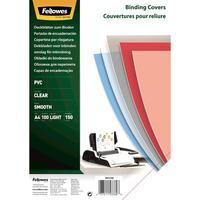 Обложки для переплета пластиковые Fellowes A4 150 мкм прозрачные глянцевые (100 штук в упаковке)