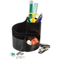 Набор настольный Attache Оптима пластиковый 14 предметов черный 6 отделений вращающийся