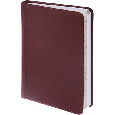 Ежедневник недатированный Альт Velvet искусственная кожа A6+ 136 листов бордовый (110х155 мм)