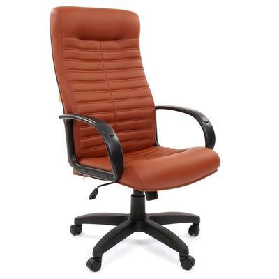 Кресло для руководителя Chairman 480 LT коричневое (искусственная кожа, пластик)